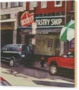 Modern Pastry Shop Boston Wood Print