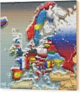 Modern Portrait Of Modern Europe - 3d Wood Print