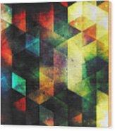 Modern Quadratic Abstraction Wood Print