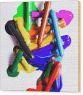 Modern Rainbow Art Wood Print