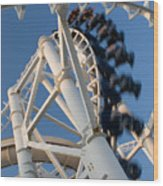 Modern Roller Coaster Wood Print