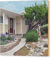 Modern Suburban House Hayward California 26 Wood Print