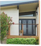 Modern Suburban House Hayward California 27 Wood Print