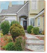 Modern Suburban House Hayward California 32 Wood Print