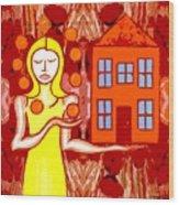Modern Woman Wood Print by Patrick J Murphy