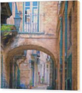 Modica Street Wood Print
