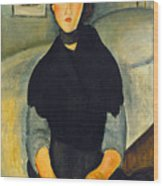 Modigliani: Woman, 1918 Wood Print