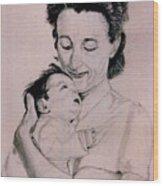 Modona and Baby Wood Print