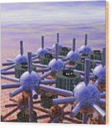 Modular City Wood Print