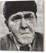 Moe Howard, Vintage Entertainer Wood Print