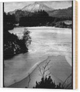 Moel Siabod Viewed From Llyn Glangors Lake Snowdonia Wood Print