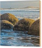 Moeraki Boulders Wood Print