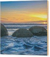 Moeraki Sunrise Wood Print