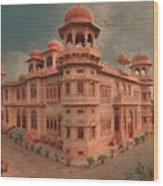 Mohatta Palace At Sunset Wood Print