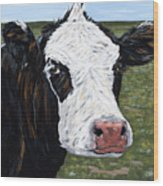 Mohawk Cow Wood Print