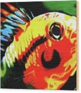 Mohawk Fish Wood Print
