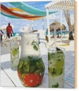 Mojitos On The Beach- Punta Cana Wood Print