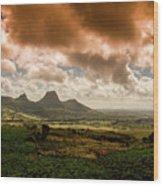 Moka Mountains Wood Print