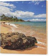 Mokapu Beach Maui Wood Print