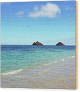 Mokulua Islands Wood Print