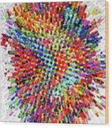 Molecular Floral Abstract Wood Print
