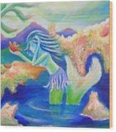 Molly Mermaid Wood Print