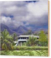 Moloa A Bay Hideaway Wood Print