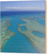 Molokai, Aerial Wood Print