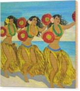 Moloka'i Hula Wood Print