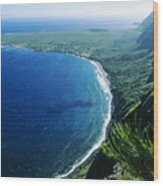 Molokai, View Wood Print