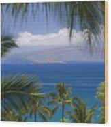 Molokini And Kahoolawe In Distance Wood Print