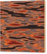 Molten Golden Waters Of The Upper Niagara Wood Print
