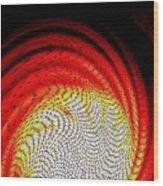 Molten Honeycomb Wood Print