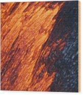 Molten Pahoehoe Lava Wood Print