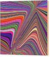 Molten Rainbow Wood Print