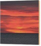 Moment Before Sunrise Wood Print