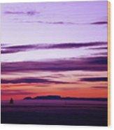 Moments Before Sunrise Wood Print