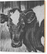 Momma Cow Wood Print