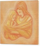Mommy And Me Wood Print