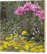 Moms Garden Wood Print