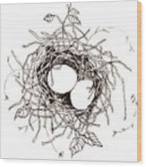 Moms Nest Wood Print