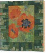 Mom's Poppies Wood Print