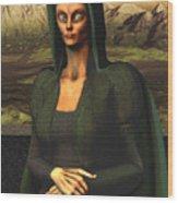 Mona Lisa Aien Wood Print