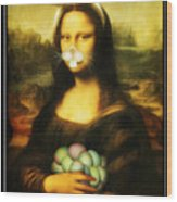 Mona Lisa Bunny Wood Print
