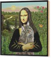 Mona Lisas Norwegian Forest Cat Wood Print