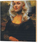 Mona Marilyn Wood Print