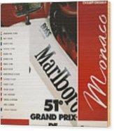Monaco F1 1993 Wood Print