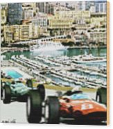 Monaco Grand Prix Racing Poster - Original Art Work Wood Print