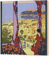 Monaco, Monte Carlo, View From Hotel Terrace Wood Print