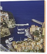 Monaco On The Mediterranean Wood Print